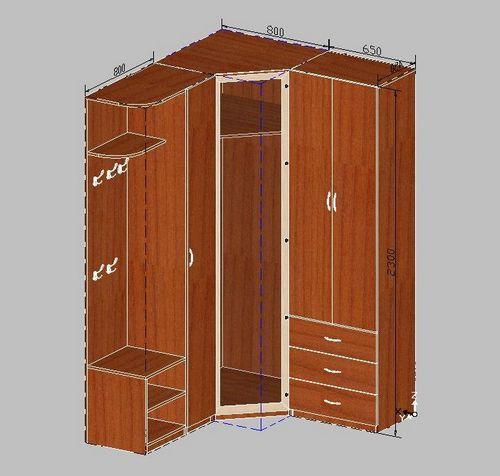 Сделать угловой шкаф в коридоре своими руками
